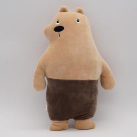 """Мягкая игрушка Медведь Гризли """"Подушка"""" (33 см.) фото"""