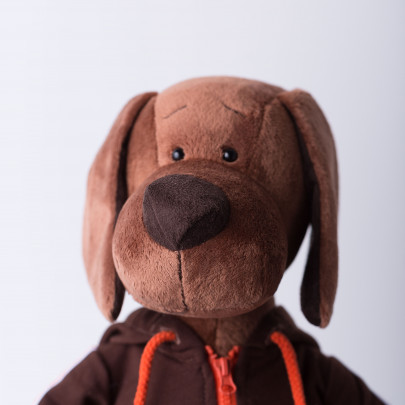 Мягкая игрушка Пес Барбоська в толстовке фото