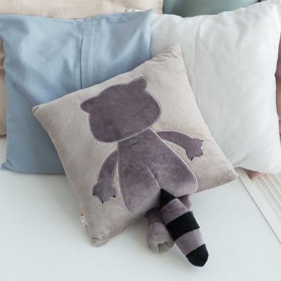 Мягкая игрушка подушка Енотик Дэнни с хвостом фото