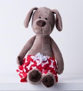 Мягкая игрушка Пёс Барбоська в трусах