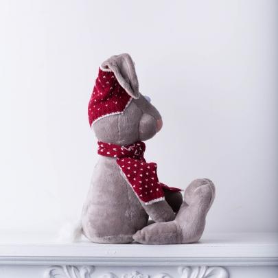 Мягкая игрушка Зайка Миша в шапке фото