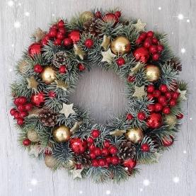 """Новогодний Венок """"Зведный"""" фото"""