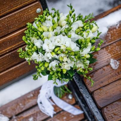"""Букет невесты """"Фрезия"""" фото"""