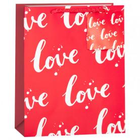 """Пакет """"Любовь, Красный"""" 23*18*10 см. фото"""