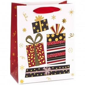 """Пакет подарочный """"Яркие подарки"""", 42*31*12 см фото"""