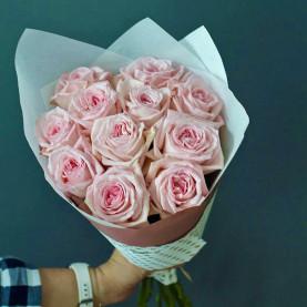 15 Пионовидных Роз Пинк Охара (50 см.) фото