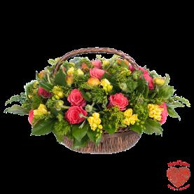 Корзина цветов Карибы фото