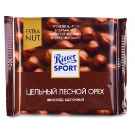 """Шоколад """"Ritter Sport"""", Цельный Лесной Орех 100 гр. фото"""