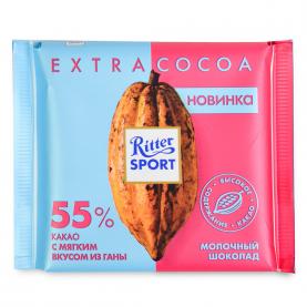 "Шоколад ""Ritter Sport"", EXTRA COCOA 55% 100 гр. фото"
