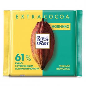 "Шоколад ""Ritter Sport"", EXTRA COCOA 61% (Темный) 100 гр. фото"