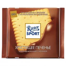 """Шоколад """"Ritter Sport"""", Хрустящее Печенье 100 гр. фото"""