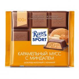 "Шоколад ""Ritter Sport"" Карамельный Мусс с Миндалем 100 гр. фото"