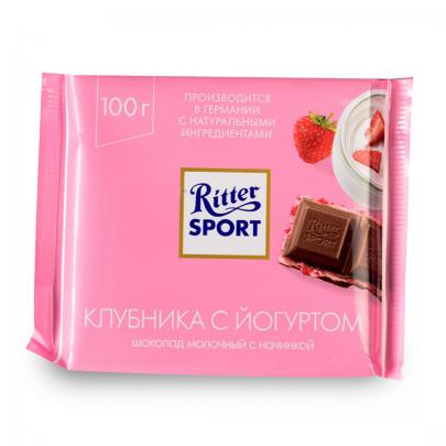 "Шоколад ""Ritter Sport"" Клубника 100 гр. фото"