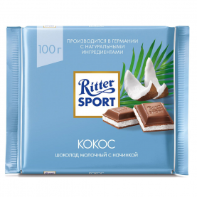 "Шоколад ""Ritter Sport"", Кокос 100 гр. фото"