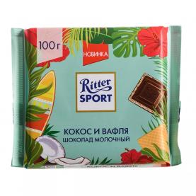 "Шоколад ""Ritter Sport"", Кокос и Вафля 100 гр. фото"