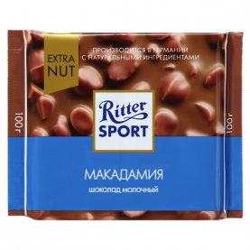"""Шоколад """"Ritter Sport"""", Макадамия 100 гр. фото"""