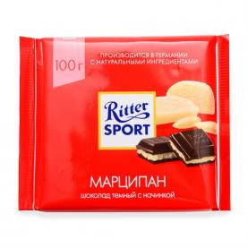"""Шоколад """"Ritter Sport"""" Марципан (Тёмный)100 гр. фото"""