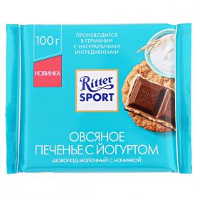 """Шоколад """"Ritter Sport"""", Овсяное Печенье с Йогуртом 100 гр. фото"""