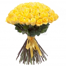 75 Желтых Роз Эквадор (50/60 см.) фото