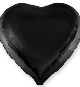 """Воздушный Шар """"Сердце"""", Черный"""