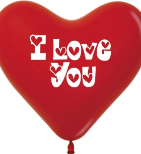 """Воздушный Шар """"Сердце"""", I love you (Красный)"""
