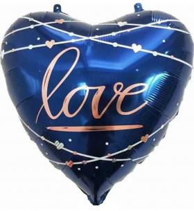 "Воздушный Шар ""Сердце"", Любовь (Кинематика Звезд, Синий)"