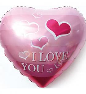 """Воздушный Шар """"Сердце"""", Я Люблю Тебя! (Летящие Сердечки, Розовый)"""