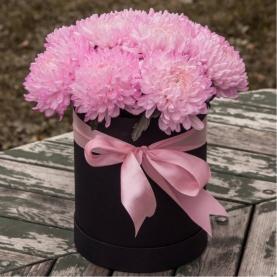 15 Розовых Хризантем в коробке фото