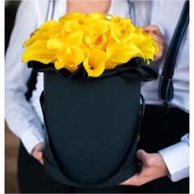 """Шляпная коробка """"35 Желтых Калл"""" фото"""