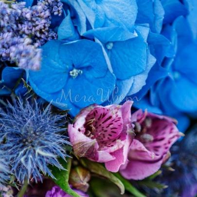 Букет Синяя пыль  фото