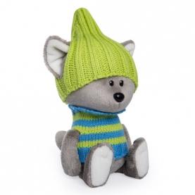 Мягкая игрушка Волчонок Вока в шапочке и свитере (15 см.) фото