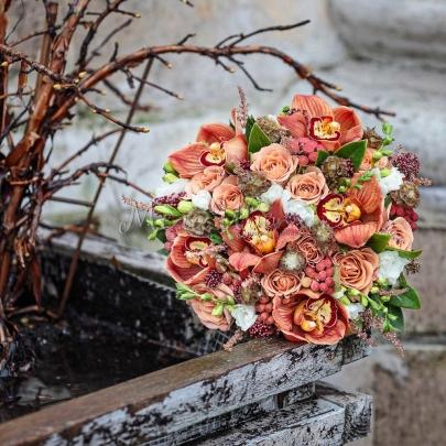 """Букет невесты """"Осенний"""" фото"""