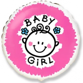 "Воздушный Шар ""Baby Girl"" фото"