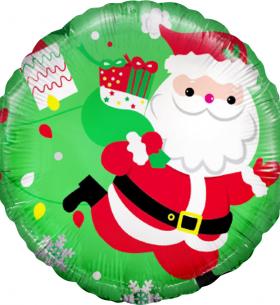 """Воздушный Шар """"Дед Мороз с подарками"""""""