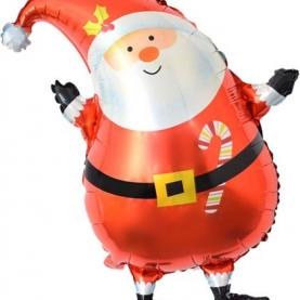 """Воздушный Шар с клапаном """"Дед Мороз в красном колпачке"""" (Мини-фигура на палочке)л фото"""