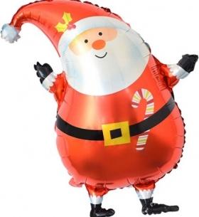 """Воздушный Шар с клапаном """"Дед Мороз в красном колпачке"""" (Мини-фигура на палочке)"""