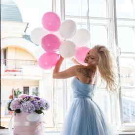 10 Розовых воздушных шаров фото