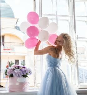 Воздушные Нежно-Розовые шары фото