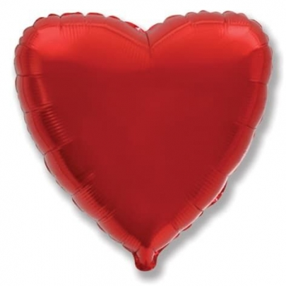 Воздушный Шар Красное Сердце фото