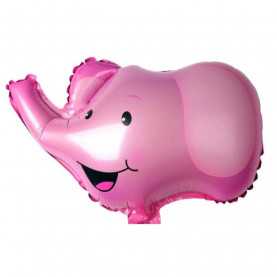 """Воздушный Шар """"Мини-фигура"""" (Голова, Розовый Слон) фото"""