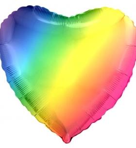 Воздушный Шар Радужный Сердце