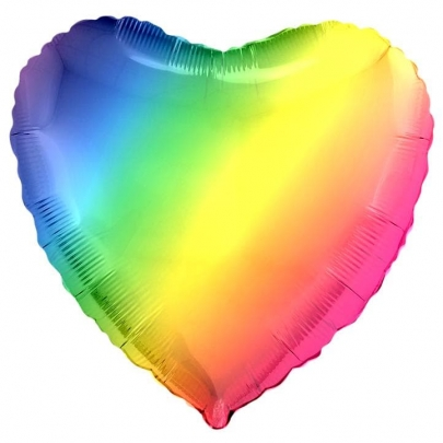 Воздушный Шар Радужный Сердце фото
