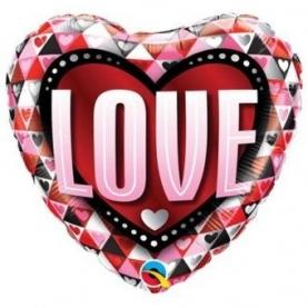 """Воздушный Шар Сердце """"Love"""" фото"""