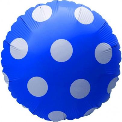 Воздушный Шар Синий Горох фото