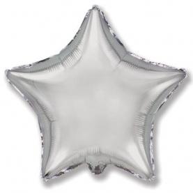 Воздушный Шар Звезда Серебрянная фото