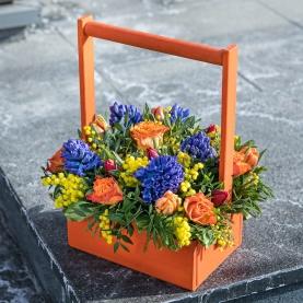"""Ящик с цветами """"Яркая Весна"""" фото"""