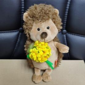 Мягкая игрушка Ёжик Колюнчик: Солнечный букет (20 см.) фото