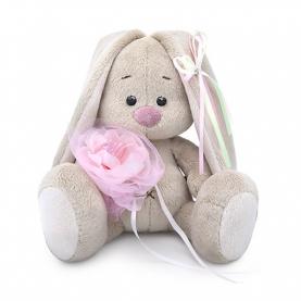 Мягкая игрушка Зайка МИ: С розовым цветком (15 см.) фото