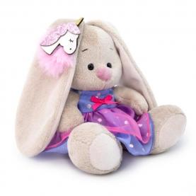 Мягкая игрушка Зайка МИ: В платье с единорогом на ушке (15 см.) фото