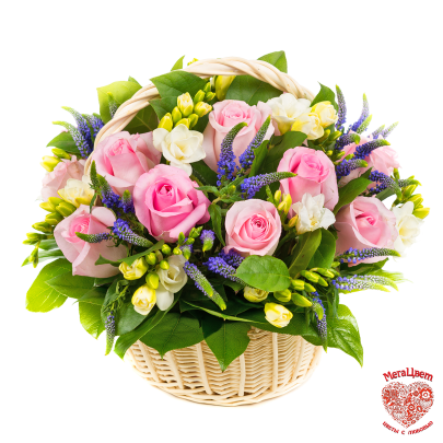 Корзина цветов Дайкири фото